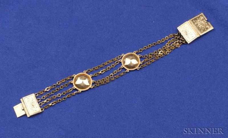 Antique 14kt Bicolor Gold Bracelet