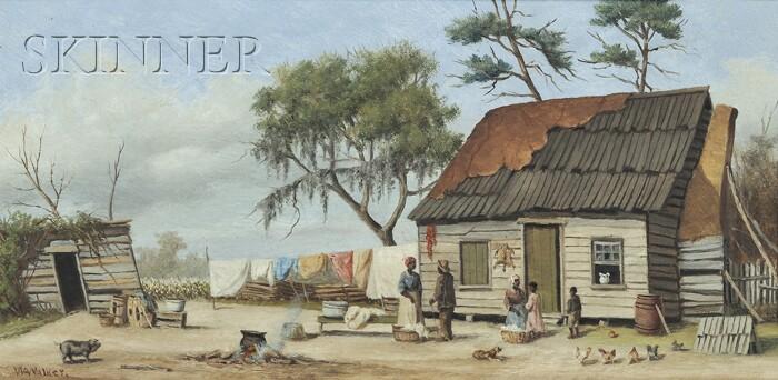 William Aiken Walker (American, 1838-1921)      Sharecropper Cabin Scene