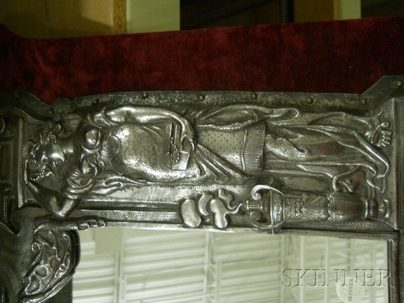 Baroque-style Repousse Metal Frame