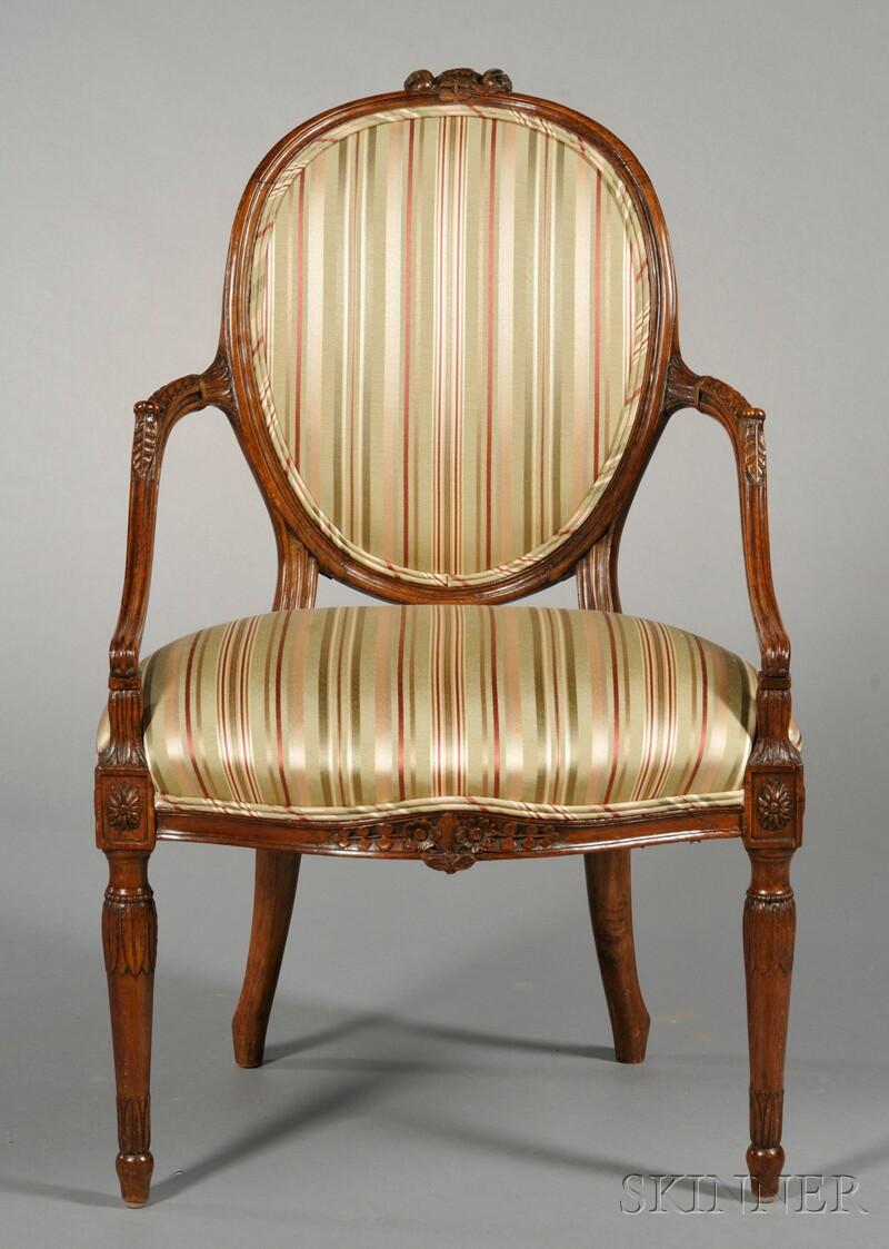 George III Open Armchair