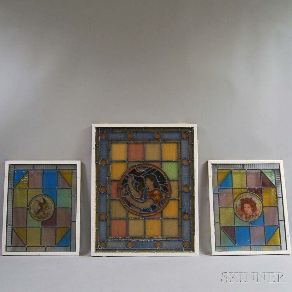 Three Stained Glass Windows