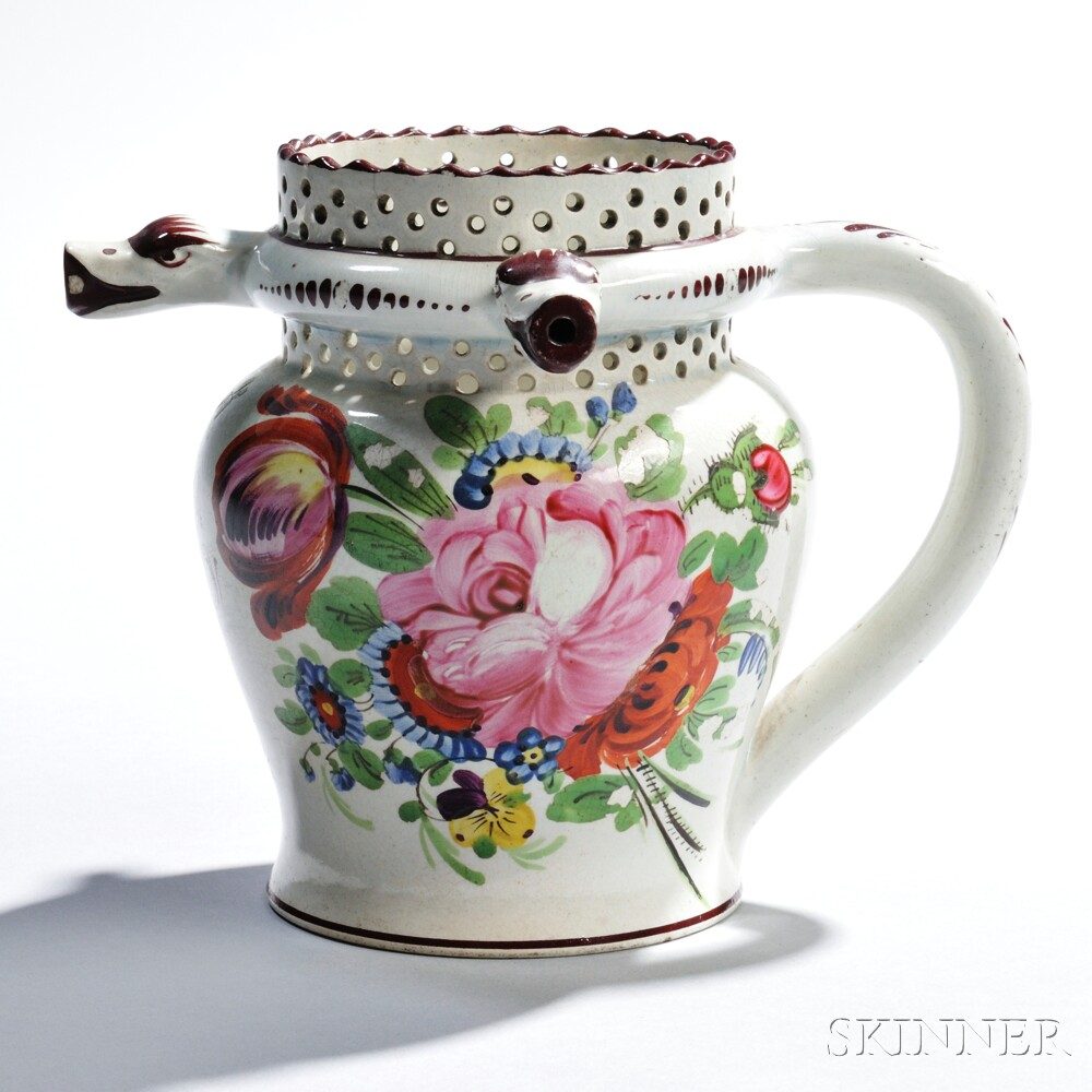 Plymouth Pearlware Puzzle Jug