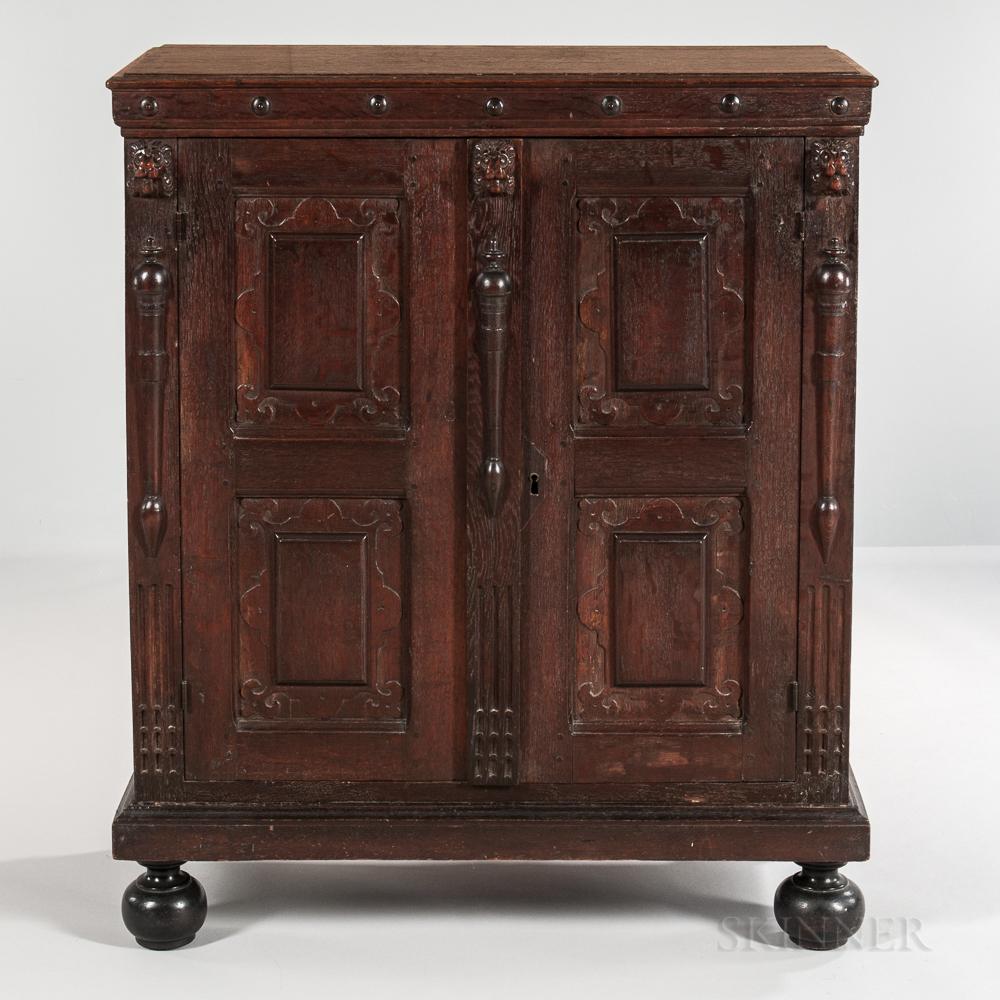 Renaissance-style Carved Oak Cabinet