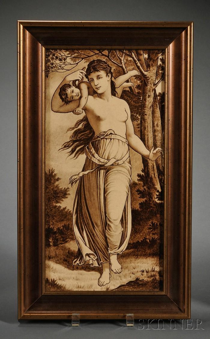 Wedgwood Underglaze Painted Thomas Allen Plaque