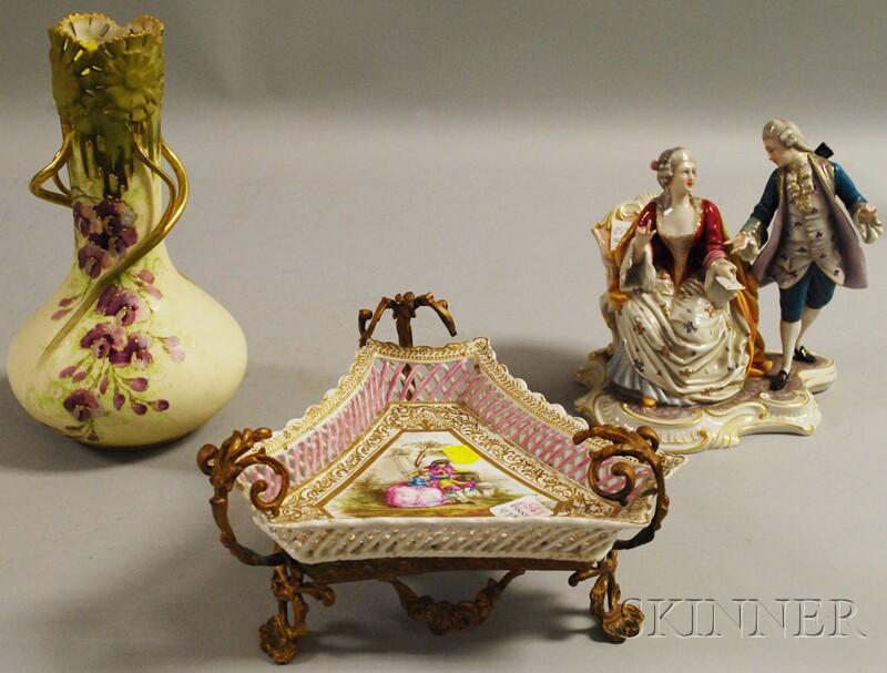 Three European Porcelain Articles