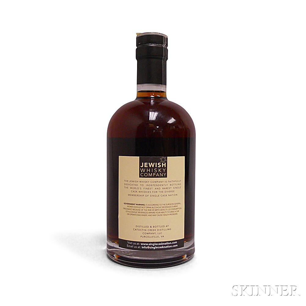 Catoctin Creek Single Barrel Rye Whiskey 2 Years Old, 1 750ml bottle