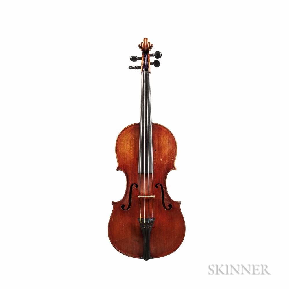 German Violin, Albert Ellersieck, Rostock, 1889