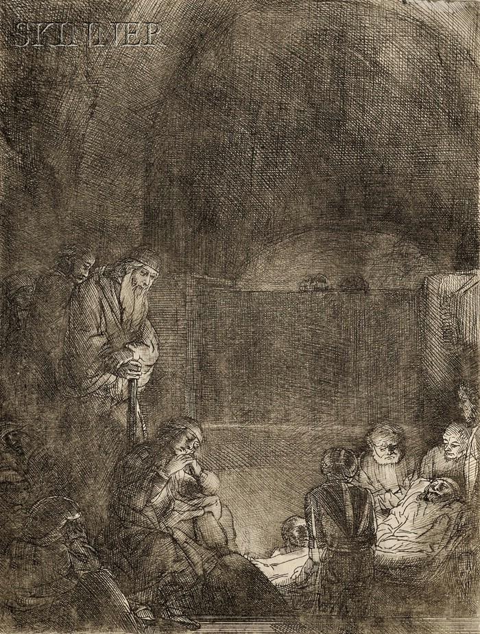 Rembrandt van Rijn (Dutch, 1606-1669)      The Entombment