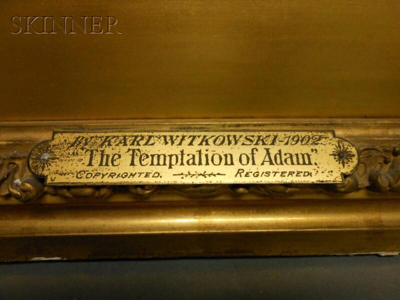 Karl Witkowski (American, 1860-1910)      The Temptation of Adam