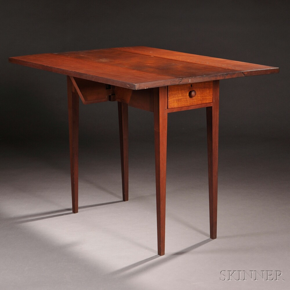 Shaker Cherry and Butternut Drop-leaf Table