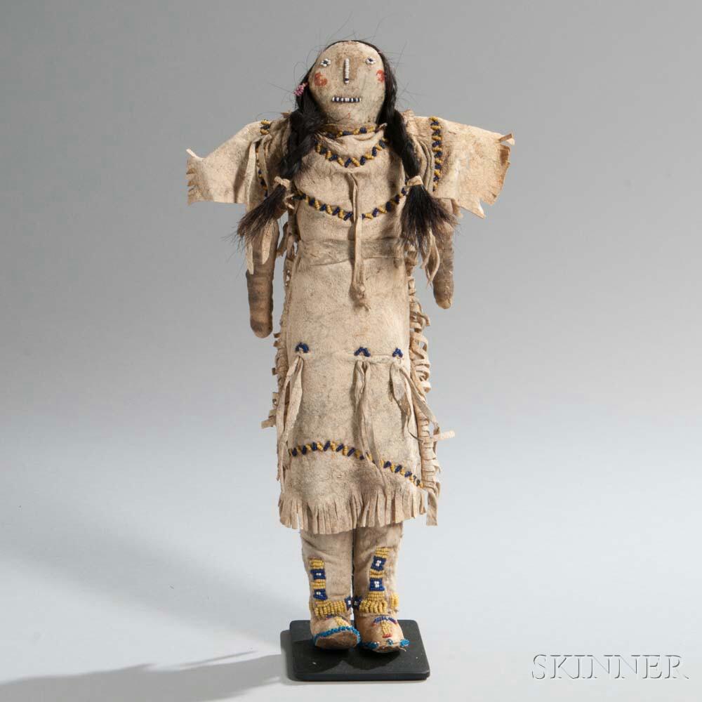 Cheyenne/Arapaho Beaded Hide Doll