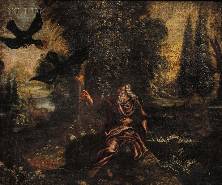 Continental School, 18th Century Style      Elijah in the Wilderness