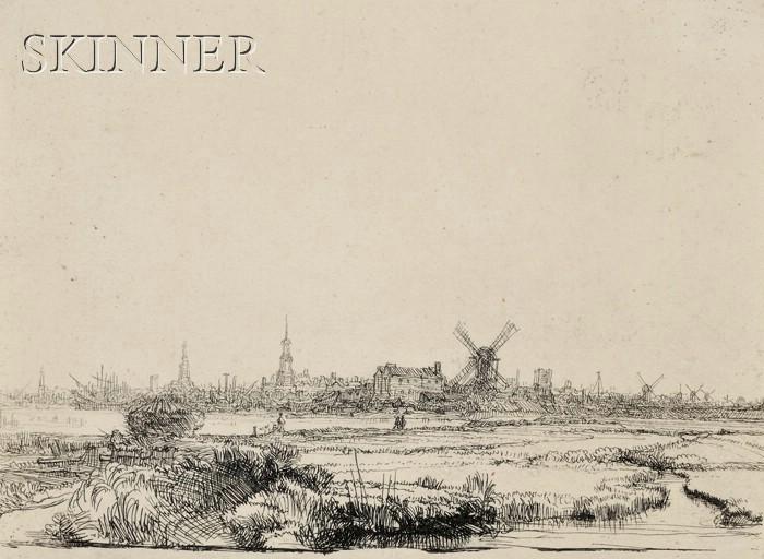 Rembrandt van Rijn (Dutch, 1606-1669)      View of Amsterdam from the Northwest