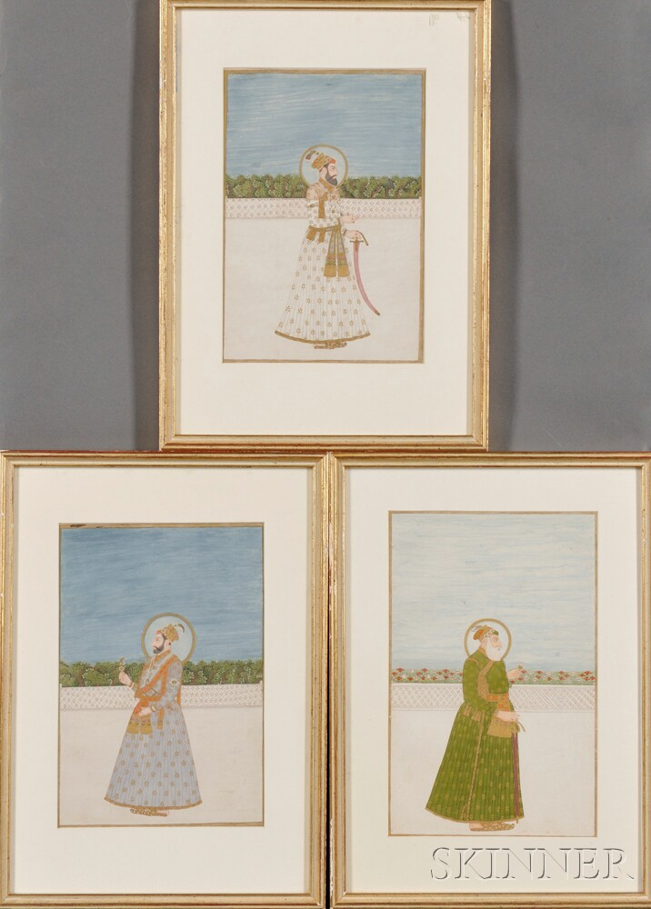 Three Portraits of Maharajas