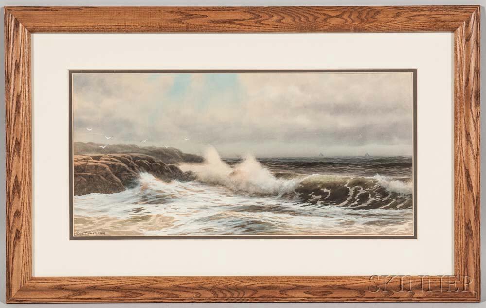 George Howell Gay (New York, 1858-1931)       Coastal Seascape.