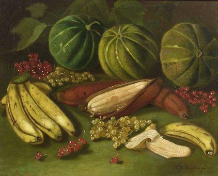Thomas Sedgwick Steele (American, 1845-1903)  Still Life with Fruit