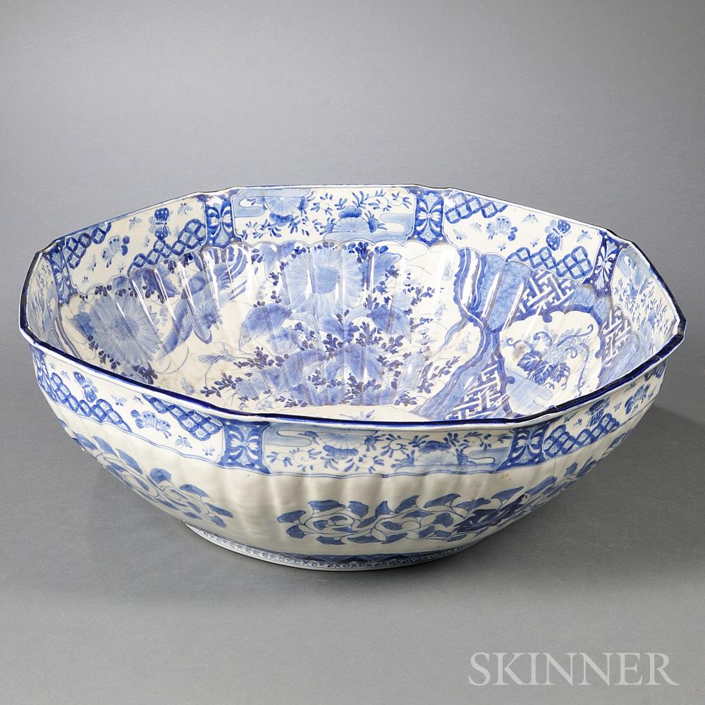 Massive Sometsuke Blue and White Bowl