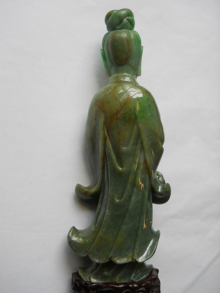 Jadeite Carving Of Guanyin Sale Number 3025b Lot Number
