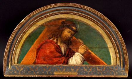 Attributed to Francesco Zaganelli da Cotignola (Italian, 1470-1532)    Christ Carrying the Cross