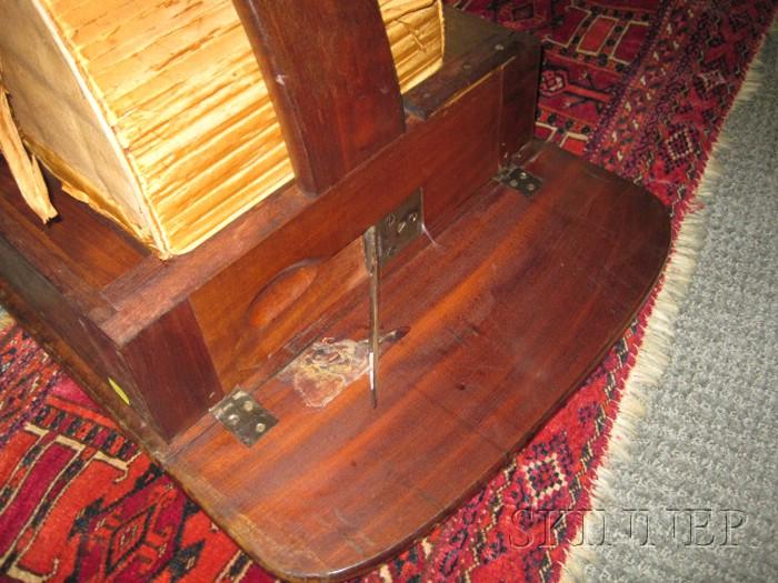 Classical Carved Mahogany and Mahogany Veneer Work Table