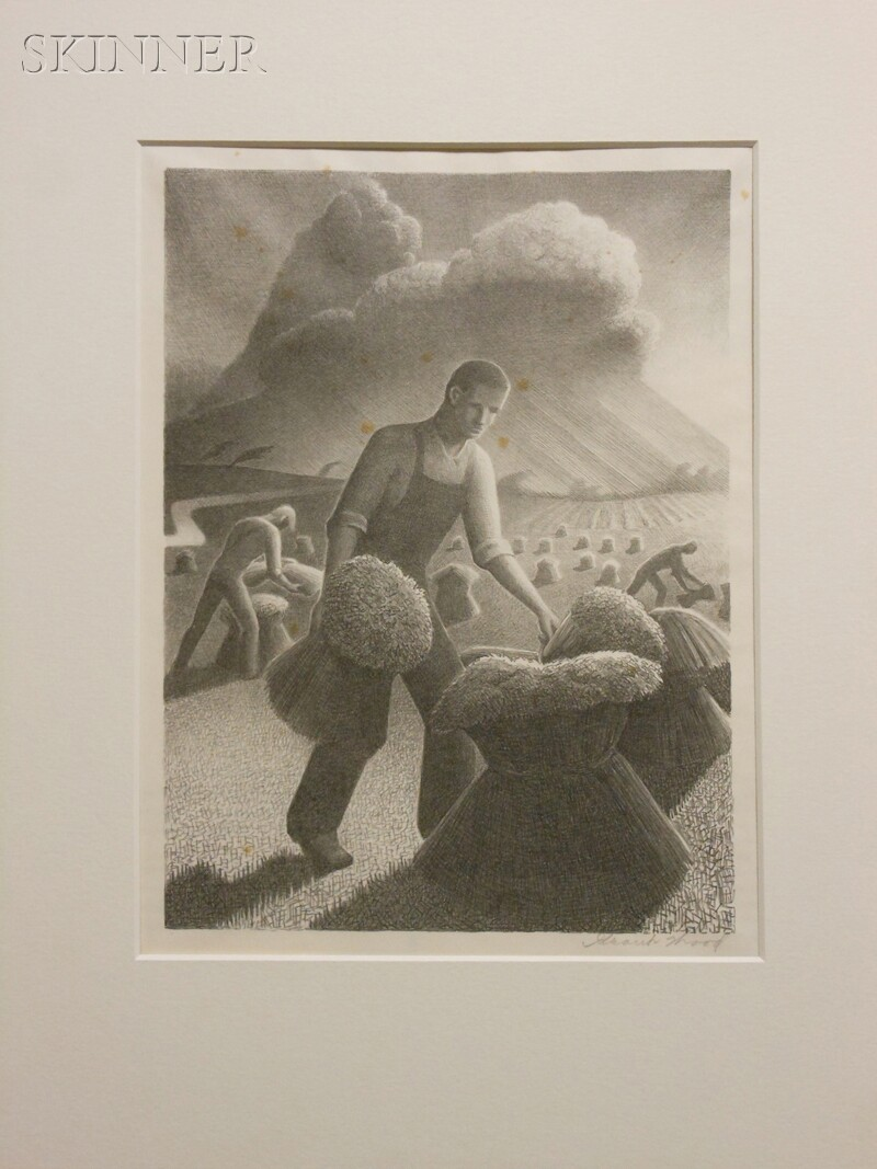 Grant Wood (American, 1891-1942)      Approaching Storm