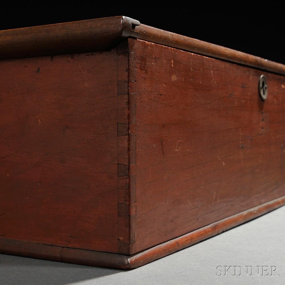 Shaker Red-Painted Pine Writing Box