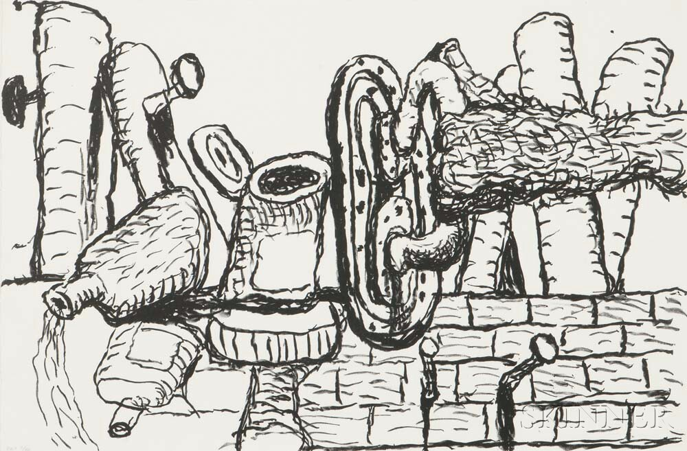 Philip Guston (American, 1913-1980)      Remains
