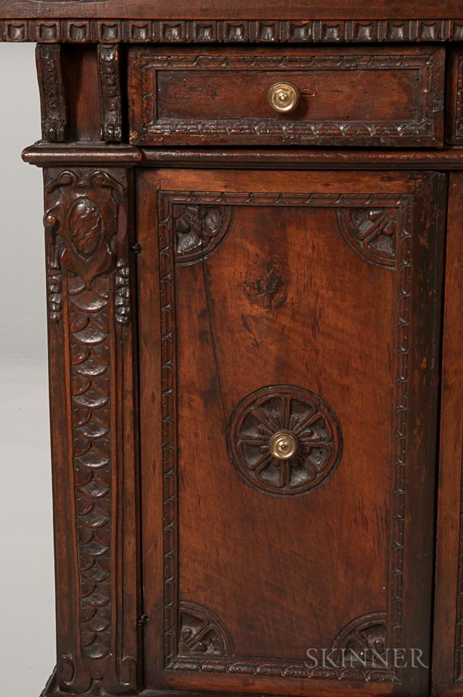 Italian baroque style fruitwood cabinet sale number for Baroque 2 door accent cabinet