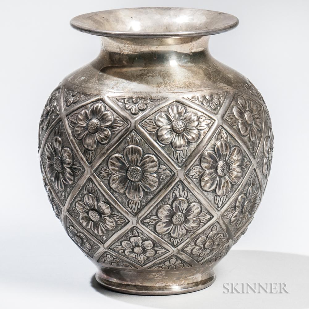 Peruvian Sterling Silver Vase