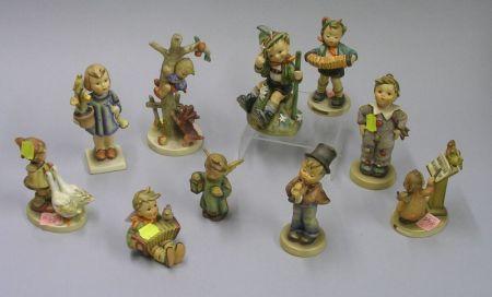 Ten Hummel Ceramic Figures.