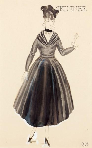 Raoul Dufy (French, 1877-1953)      Robe Pour Poiret