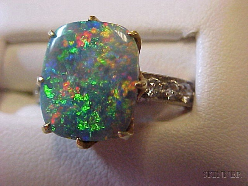 Antique Black Opal And Diamond Ring Tiffany Amp Co Sale