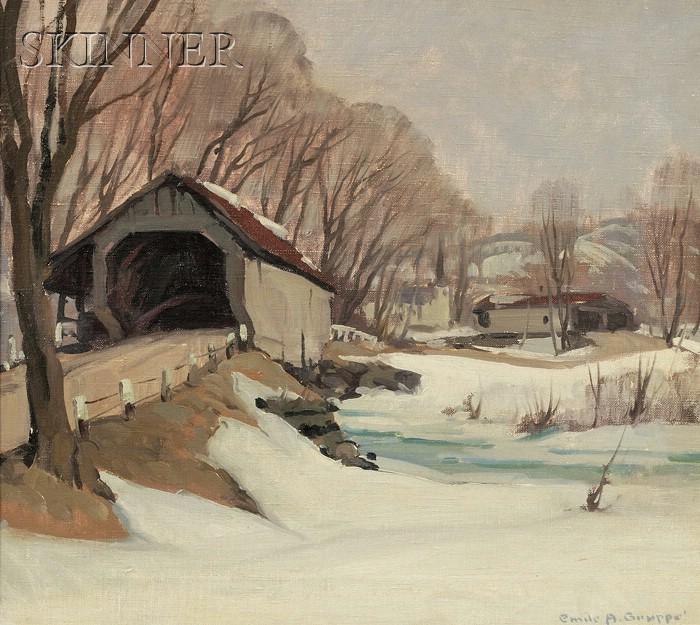Emile Albert Gruppé (American, 1896-1978)      Vermont Covered Bridge