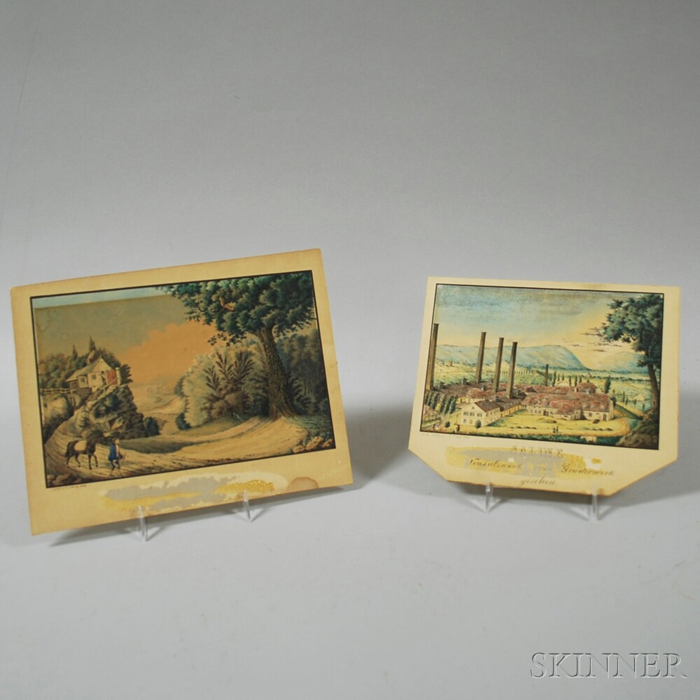 Two Continental Scrapbook Paintings