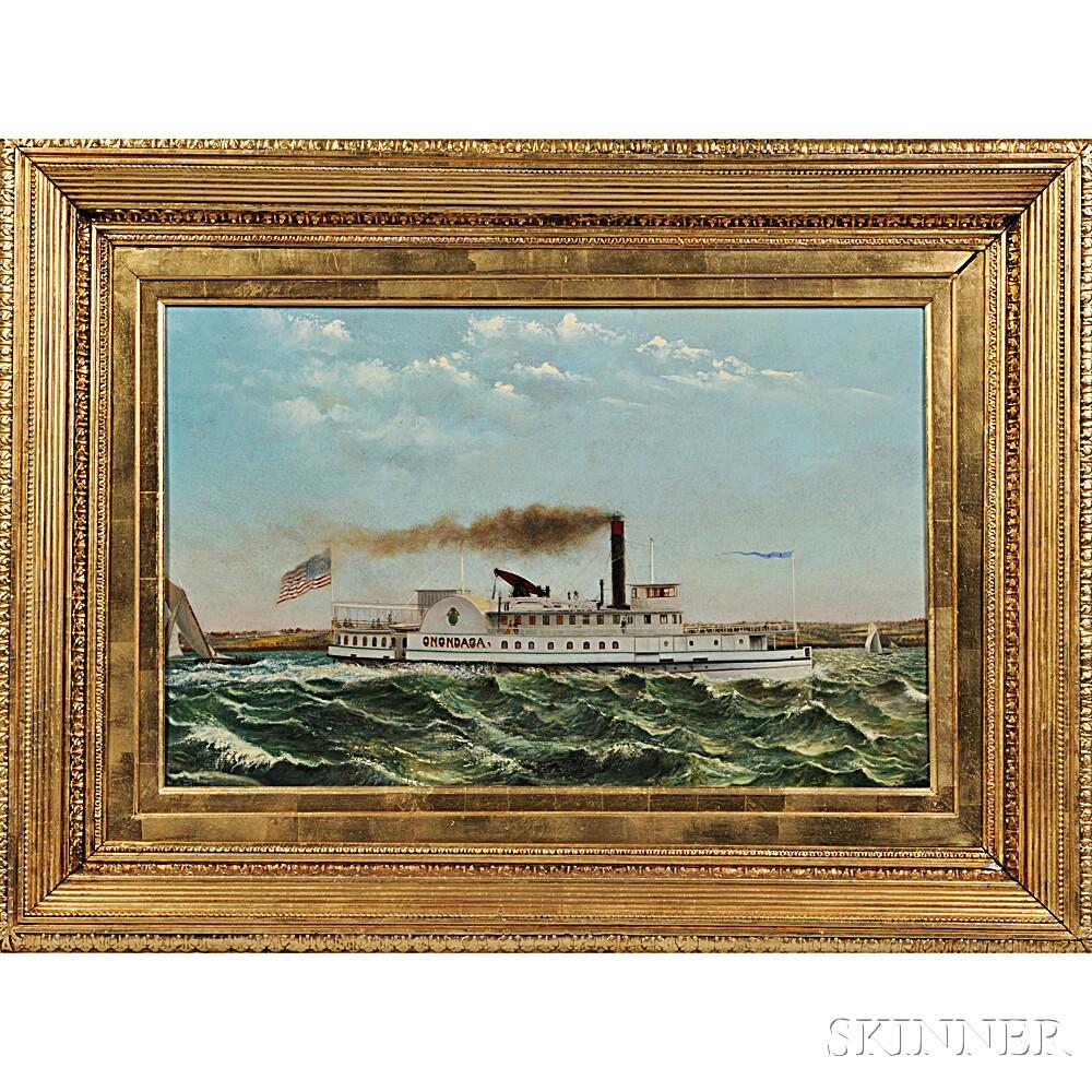 American School, Late 19th Century    Portrait of the Paddlewheel Steamer Onondaga
