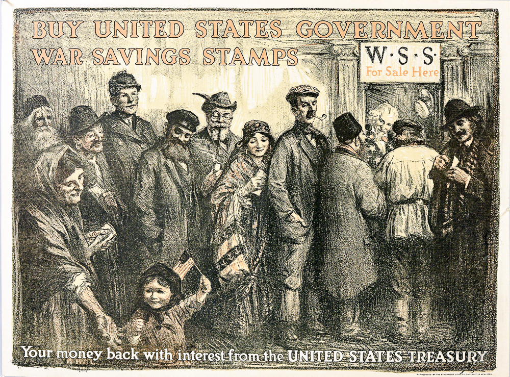 WWI United States Government War Savings Stamps Poster