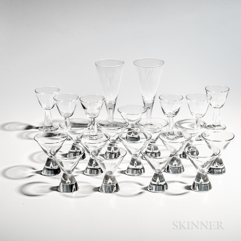 Various Steuben Teardrop Glassware