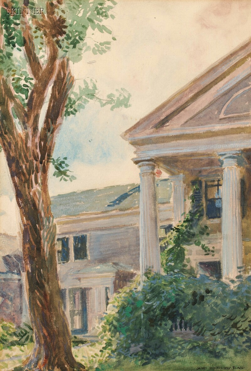 James Montgomery Flagg (American, 1877-1960)    The Portico/A House View
