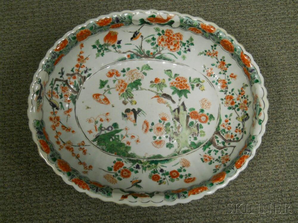 Large Oval Famille Verte Bowl