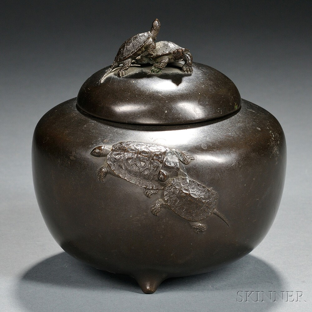 Bronze Covered Jar