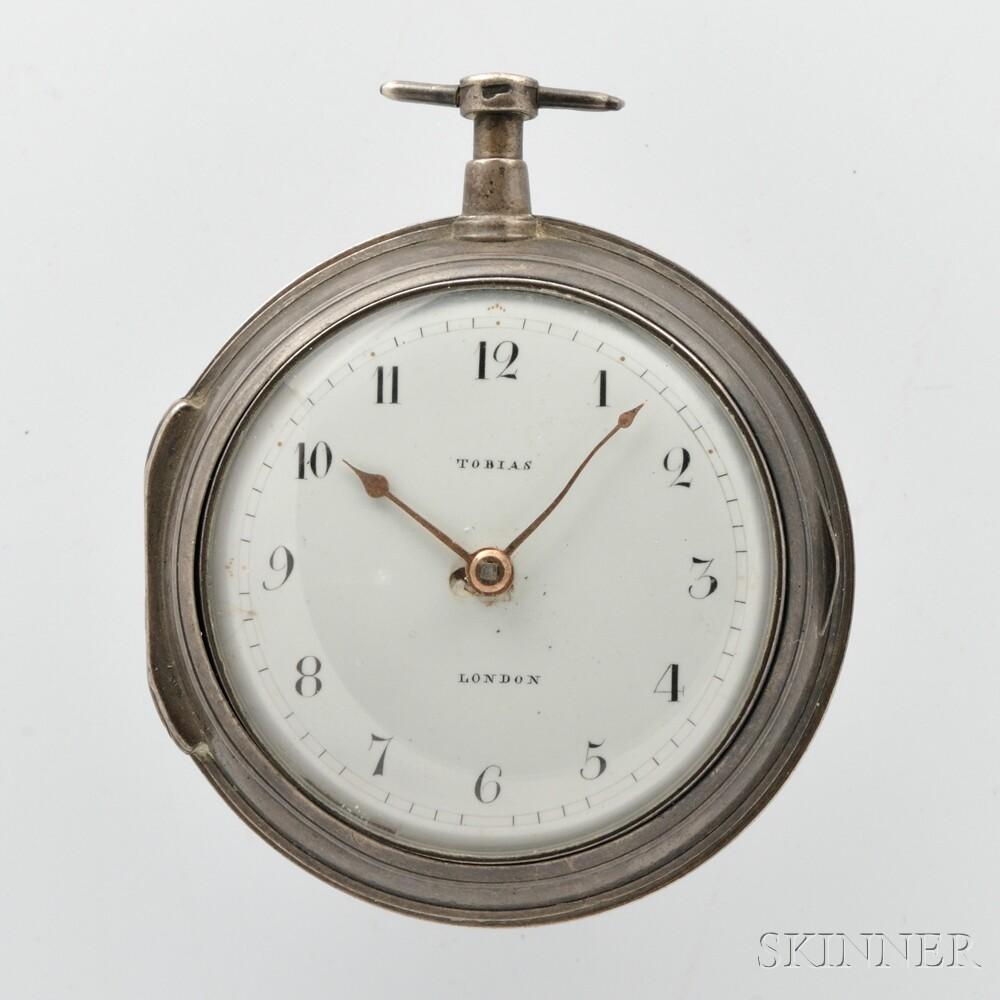 Tobias Silver Pair-cased Verge Watch