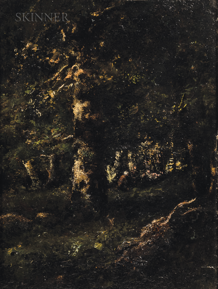 Camille Magnus (French, 1850-1877)      Barbizon Landscape