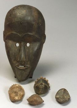 Five African Carved Wood Items