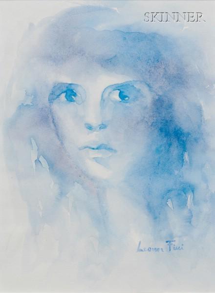 Leonor Fini (French, 1908-1996)      Portrait in Blue