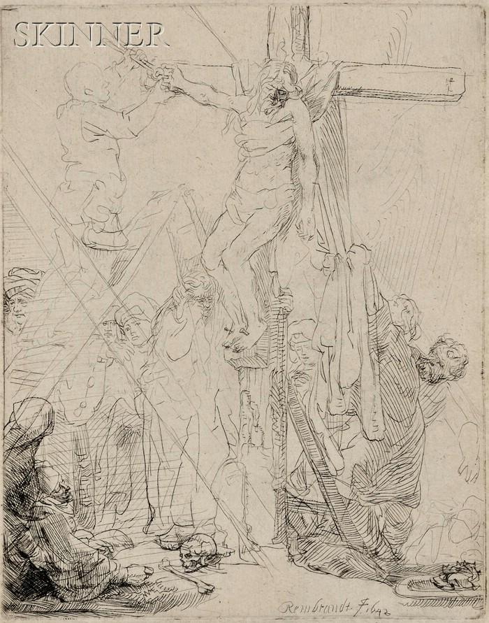 Rembrandt van Rijn (Dutch, 1606-1669)      Descent from the Cross:  A Sketch