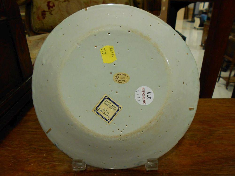 Two Polychrome Tin-glazed Earthenware Plates