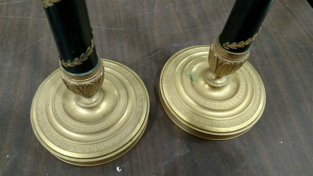 French Empire-style Bronze Candlesticks