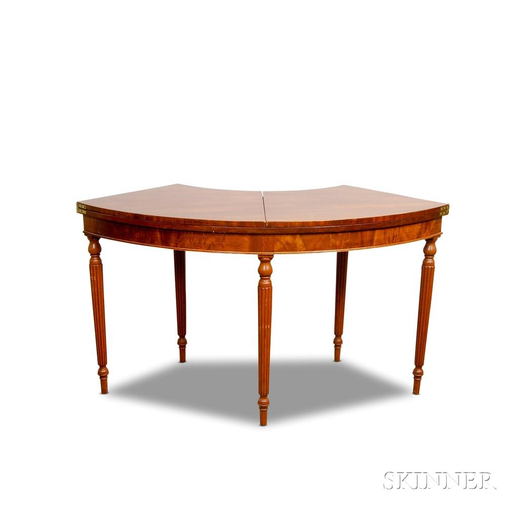 Regency-style Mahogany Demilune Desk