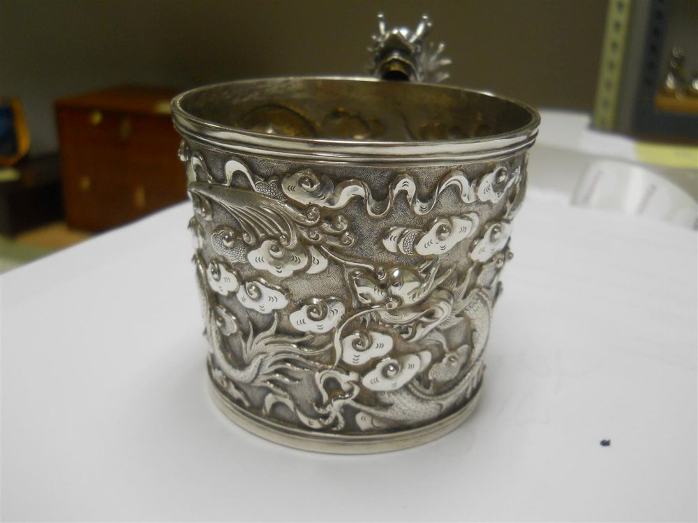 Three Chinese Export Silver Cups