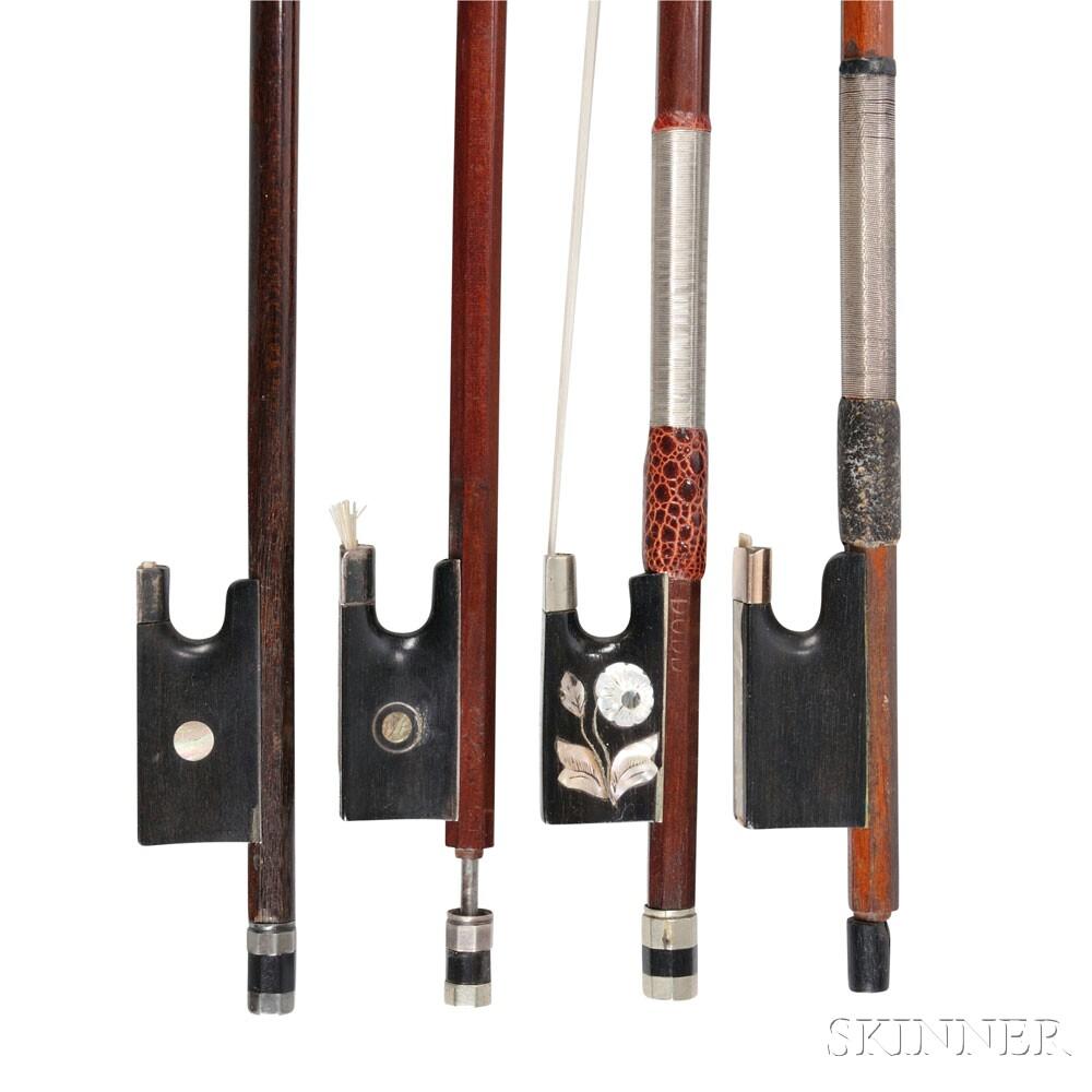Four Violin Bows
